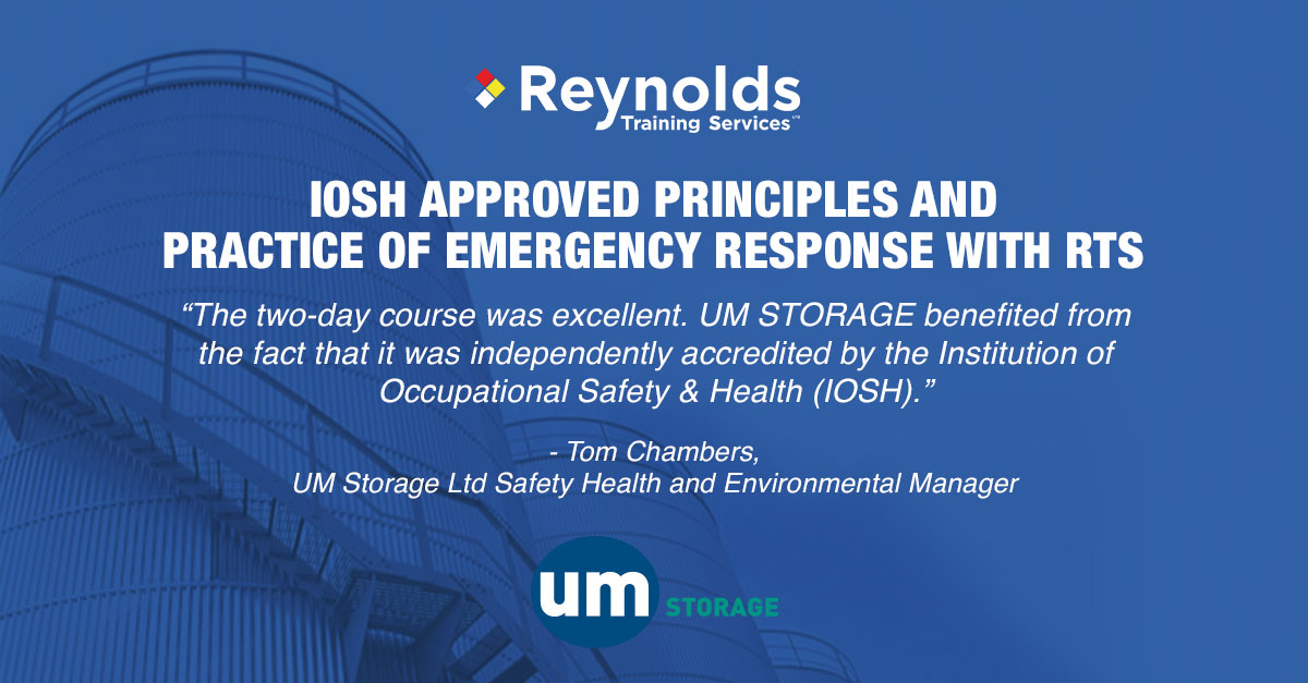 Emergency response planning with UM Storage Ltd: Case study