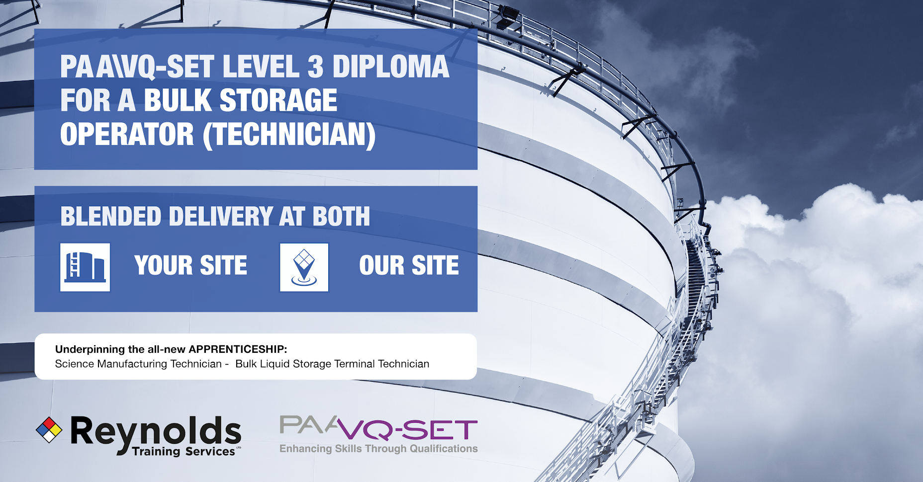 PAA\VQ-SET Level 3 Diploma for a Bulk Storage Operator (Technician)
